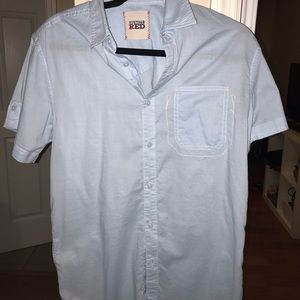 Light blue button down shirt from vintage red